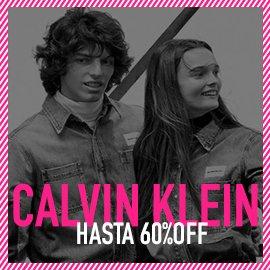 Calvin Klein hasta 60% Off