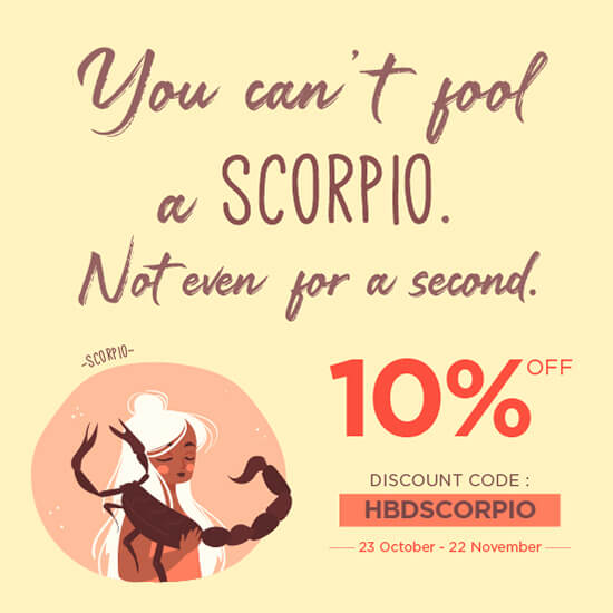 Promo Scorpio Birthday