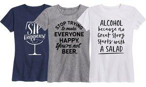 Ladies' Humorous Wine or Beer Tees