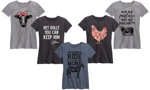 Instant Message Women's Southern Tees. Plus Sizes Available