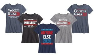 Women's Funny 2020 Elections Tees. Plus Sizes Available.