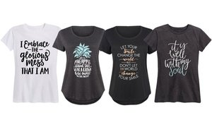 Empowering Christian Women's Tee. Plus Sizes Available.
