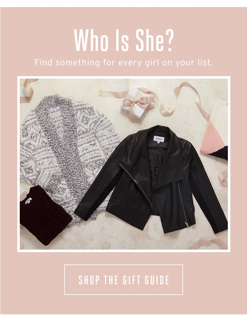 Who is she? Shop the gift guide.