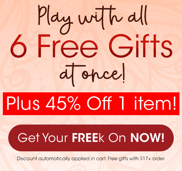Grab  6 FREE gifts + 45% OFF!