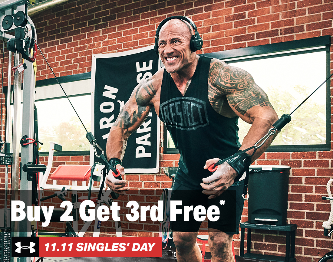 Buy 2 Get 3rd Free* - UA 11.11 SINGLES' DAY