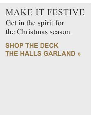 Shop the Deck The Halls Garland