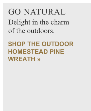Outdoor Homestead Pine Wreath