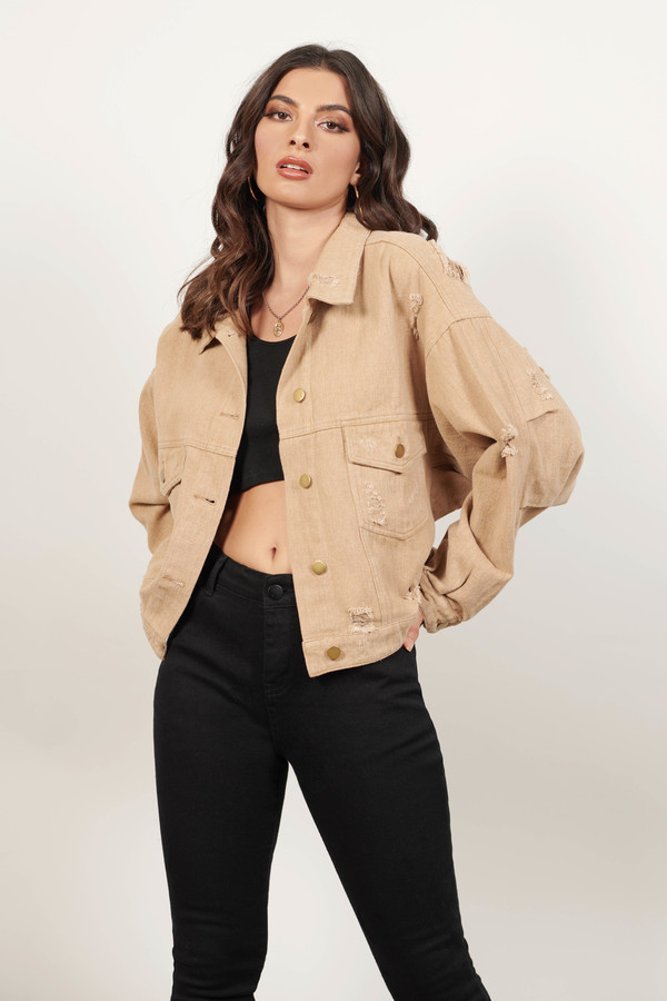 Can't Get Over You Khaki Denim Jacket