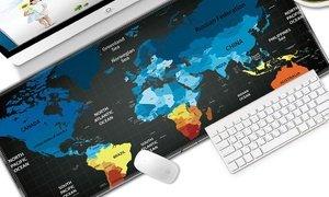World Map Full Desk Mouse Pad