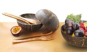 Natural Coconut Bowl Set
