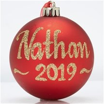 Personalised Classic Plain Baubles