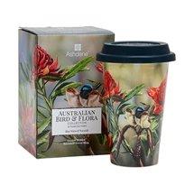 Australian Bird And Floral Travel Mugs