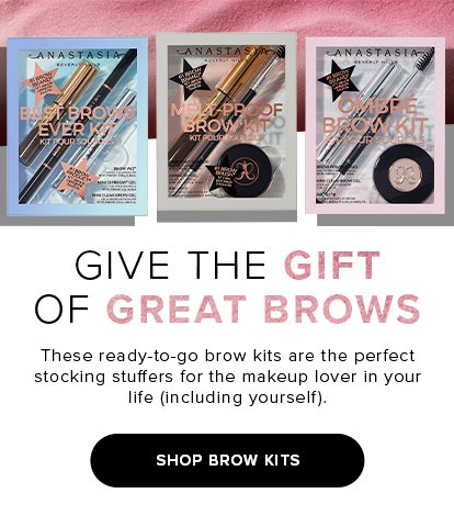 GIVE THE GIFT OF GREAT BROWS. These ready-to-go brow kits are the perfect stocking stuffers for the makeup lover in your life(including yourself). SHOP BROW KITS
