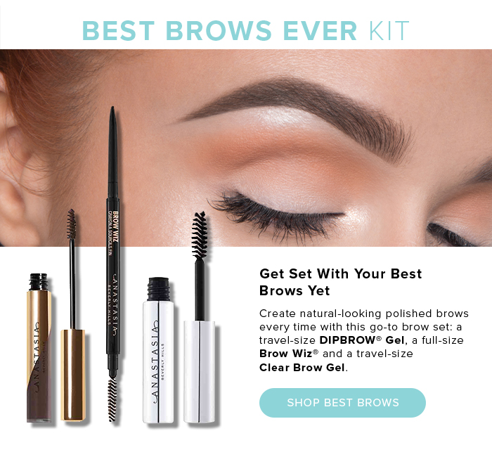 BEST BROWS EVER KIT. Get Set With Your Best Brows Yet. Create natural-looking polished brows every time with go-to brow set: a travel-size DIPBROW(R) Gel, a full-size Brow Wiz(R) and a travel-size Clear Brow Gel. SHOP BEST BROWS