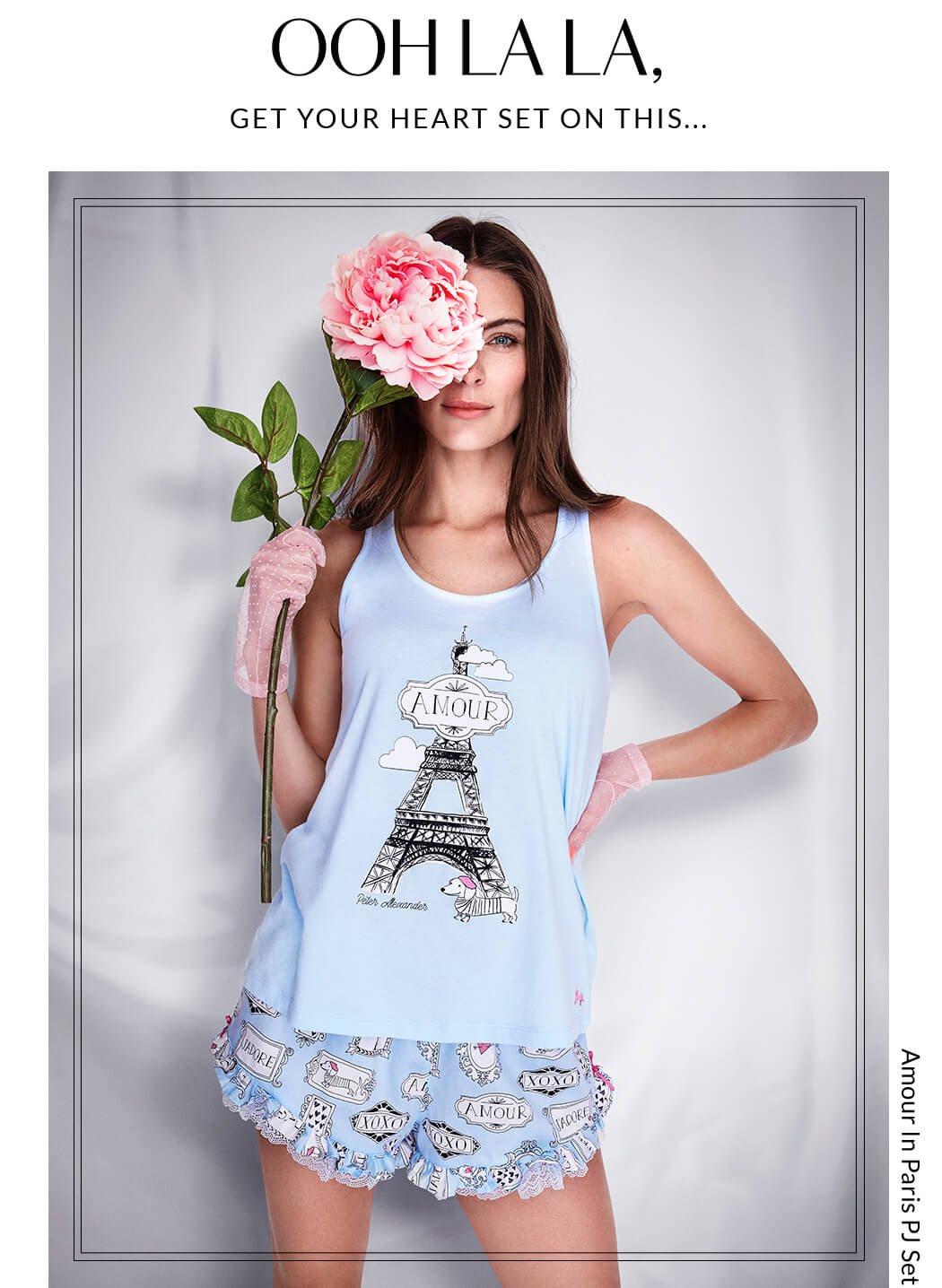 Ohh La La, Get your heart set on this... Amour In Paris PJ Set