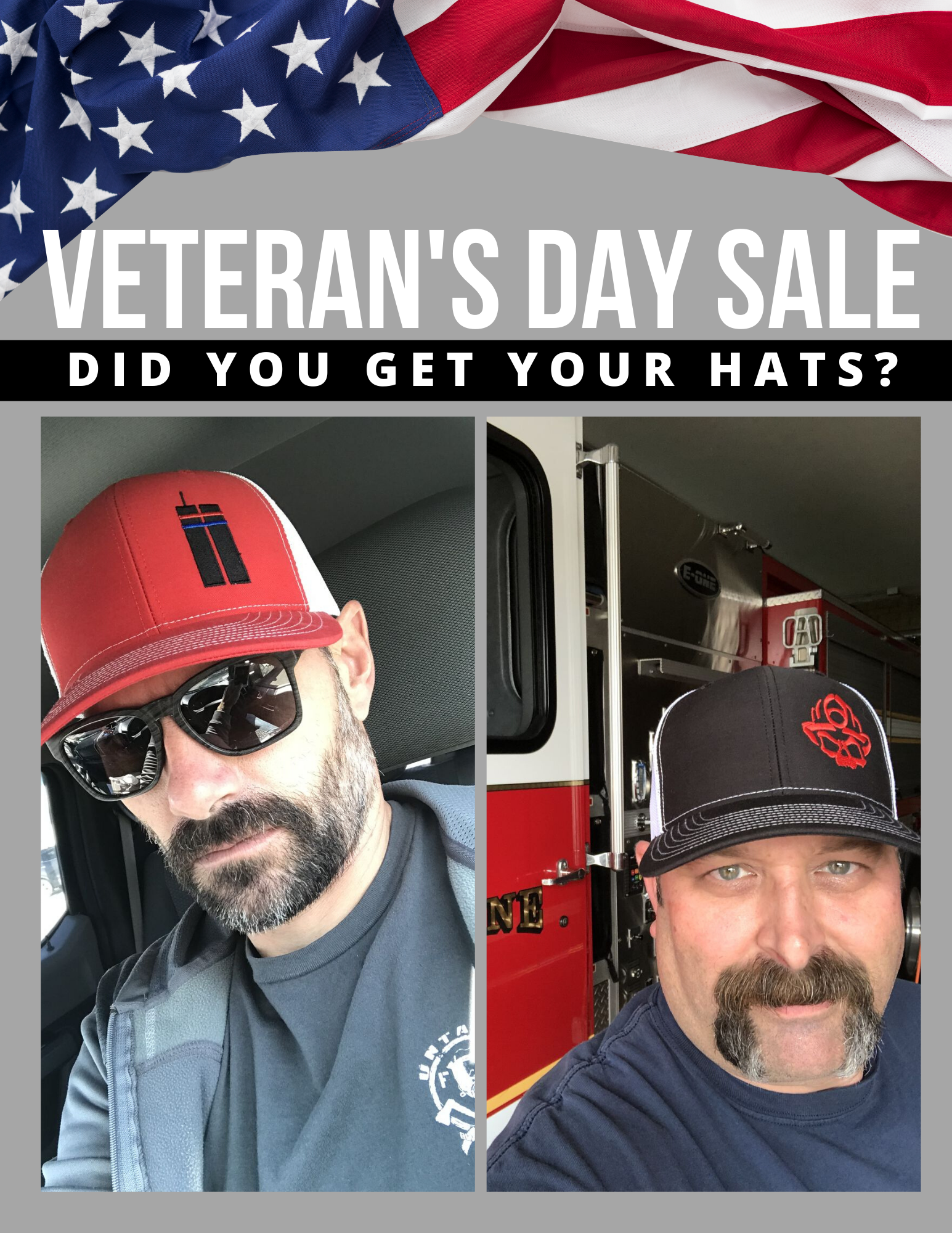 Buy 1, Get 2 FREE Veterans Day Sale (Use Code: VD19)