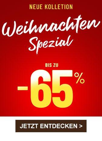 """Neue Kollektion """"Weihnachten-Spezial"""" bis zu minus 65 prozent"""