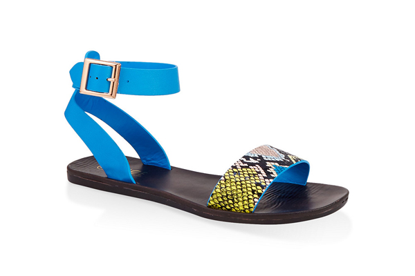 Single Band Ankle Strap Sandals