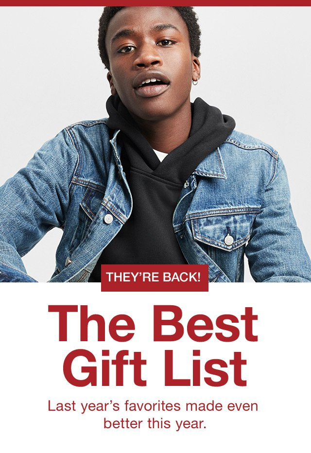 THE BEST GIFT LIST