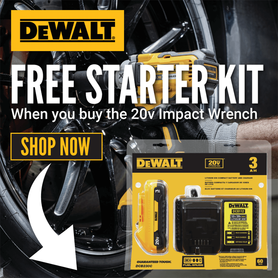 FREE DeWALT Starter Kit With This 20V Impact Wrench