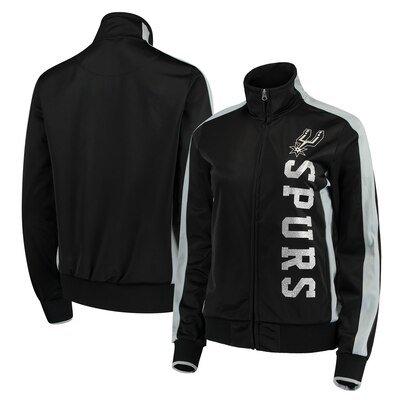 San Antonio Spurs G-III 4Her by Carl Banks Women's Drop Back Full-Zip Track Jacket - Black