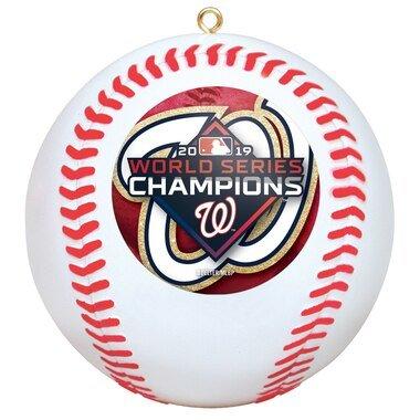 Washington Nationals 2019 World Series Champions Replica Baseball Ornament