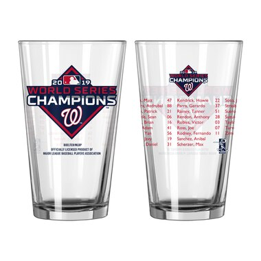 Washington Nationals 2019 World Series Champions 16oz. Roster Pint Glass