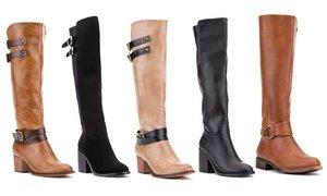 Olivia Miller Women's Swanky Tall Boots in Medium Width