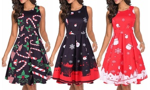 Leo Rosi Women's Christmas Dress. Plus Sizes Available.