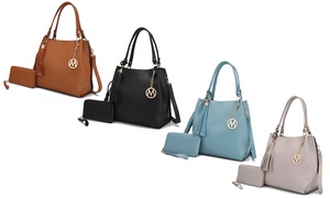 MKF Collection Oxana Satchel Bag with Matching Wallet by Mia K.