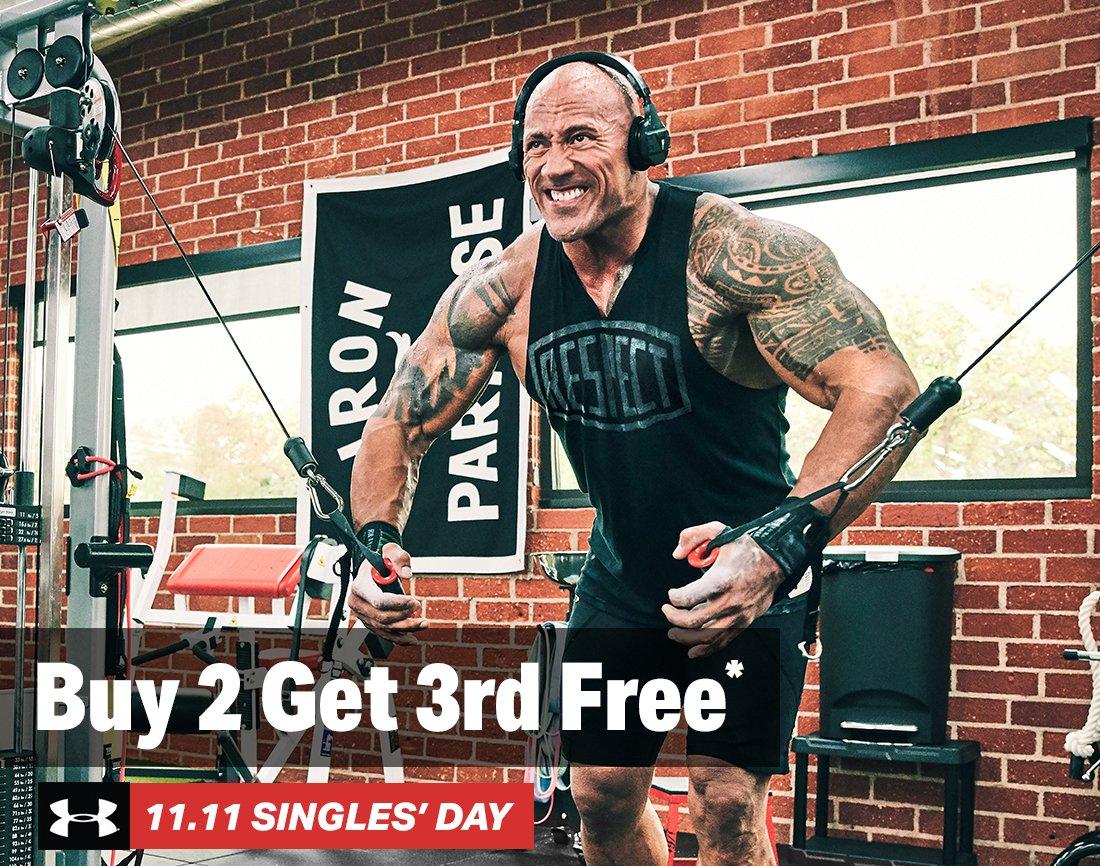 Buy 2 Get 3rd Free* - UA 11.11 SINGLES' DAY