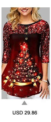 Christmas Tree Print Sequin Embellished T Shirt
