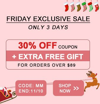 FRIDAY Exclusive SALE   ONLY 3 DAYS