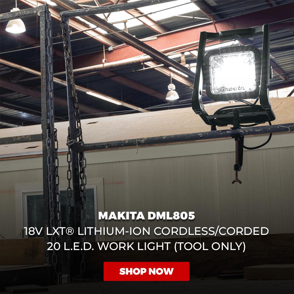 Makita DML805 18V LXT Lithium-Ion Cordless/Corded L.E.D. Flood Light, Bare Tool