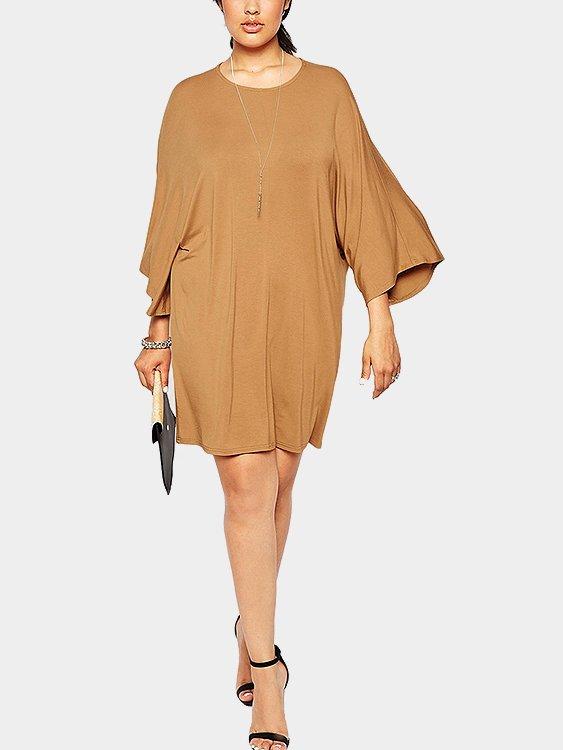 Plus Size T-shirt Dress with Kimono Sleeves