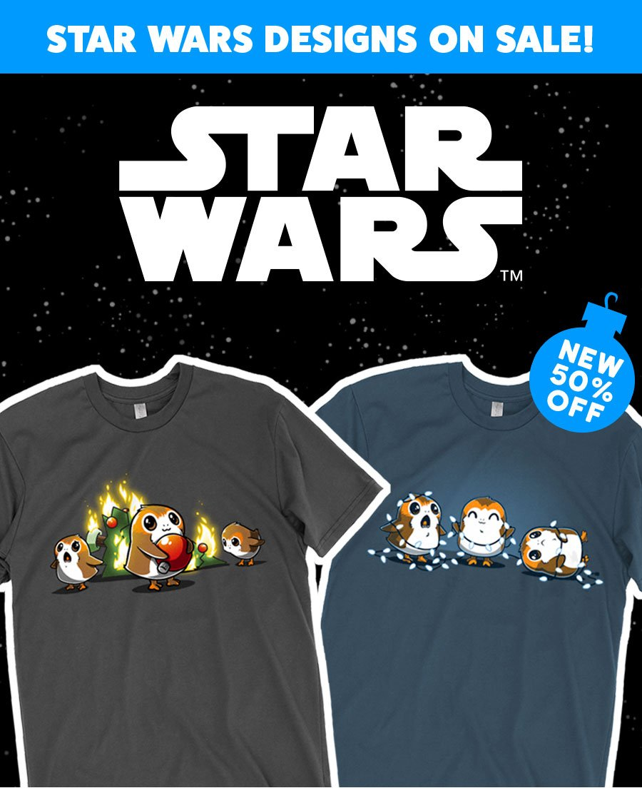 All Star Wars Designs on sale now!