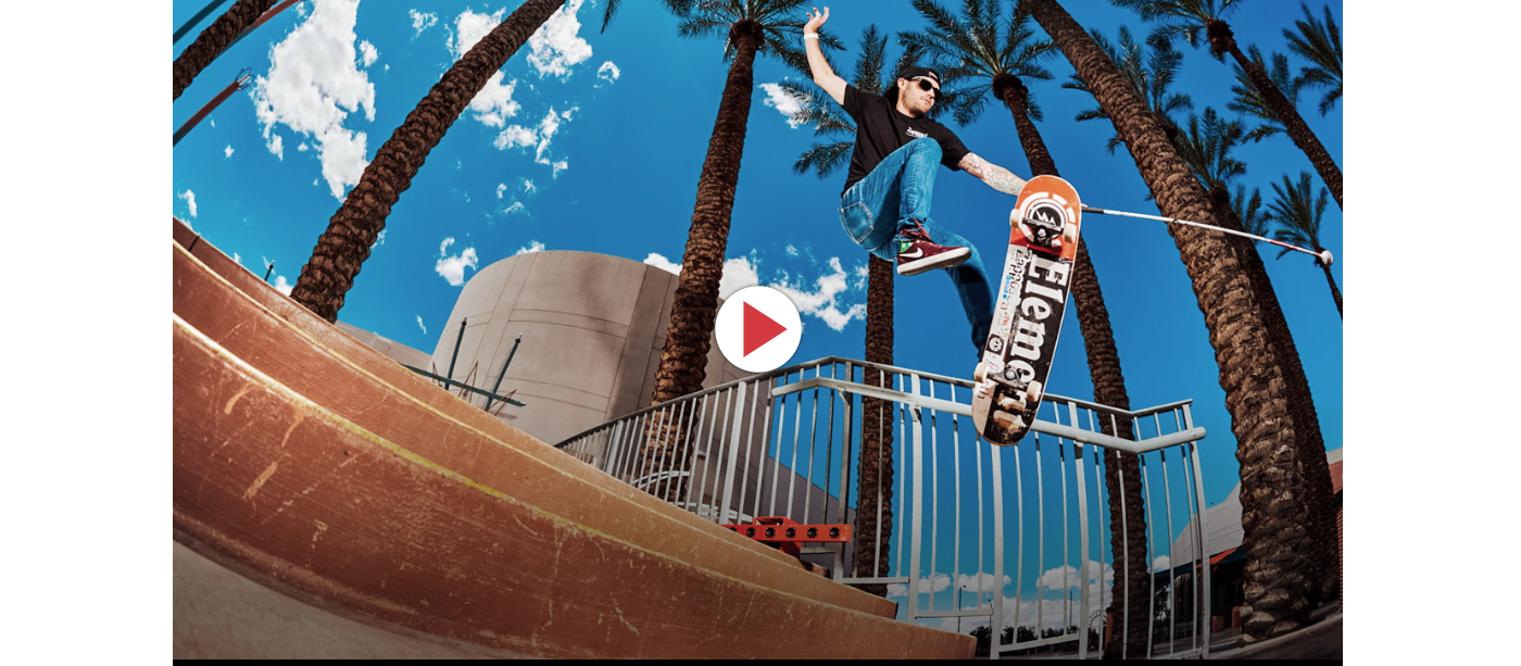 The cover image of the Thrasher video is Justin sending it off a local stair spot in his hometown of Las Vegas.