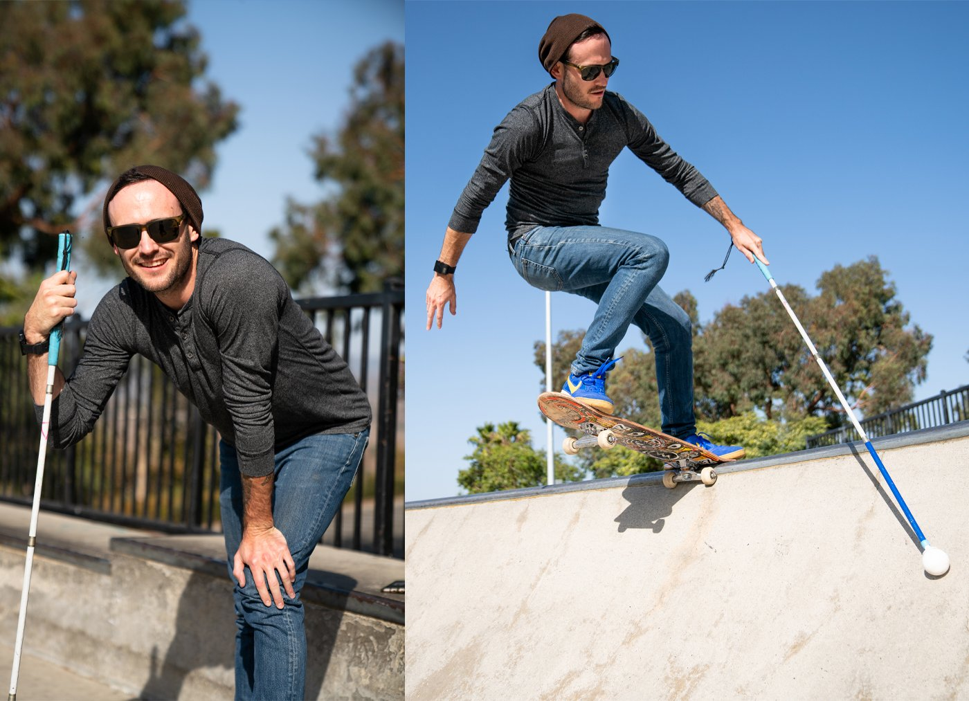 Justin haning out with is at our local skatepark in San Clemente. He session'd the bowl and transitions until we had to drag him away. He loves to skate and the local kids enjoyed watching him do his thing.