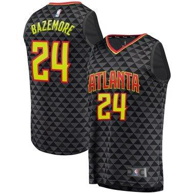 Men's Fanatics Branded Kent Bazemore Black Atlanta Hawks Fast Break Replica Jersey - Icon Edition