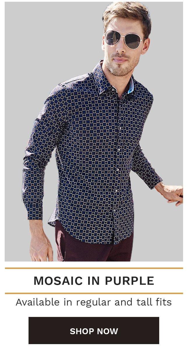 Mosaic in Purple