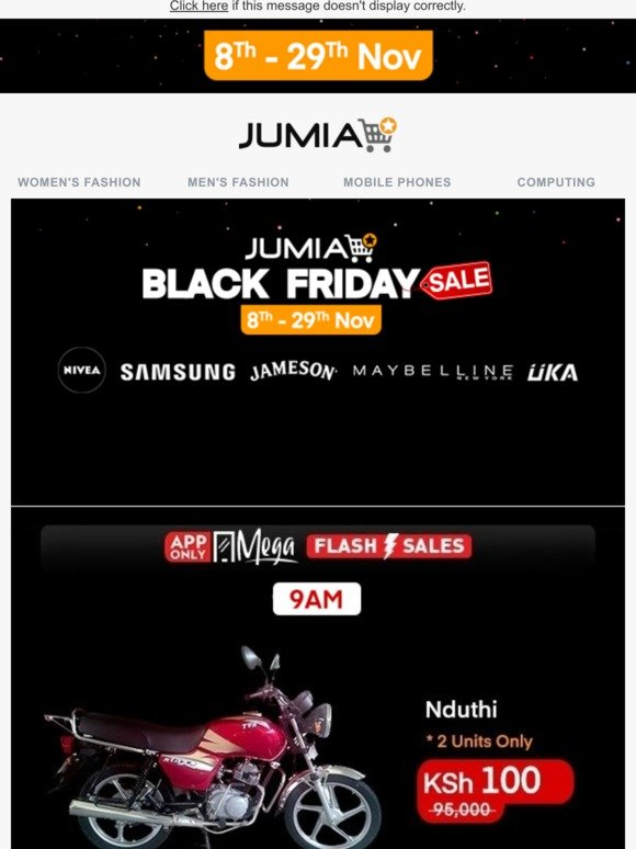 Jumia Kenya Jumia Black Friday Is Live Now Get Up To 90 Off On 10m Products Milled