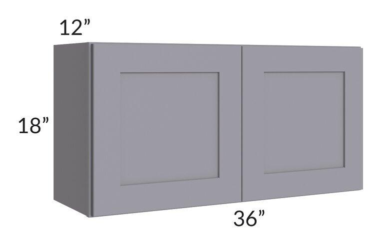 Graphite Grey Shaker 36x18 Wall Cabinet
