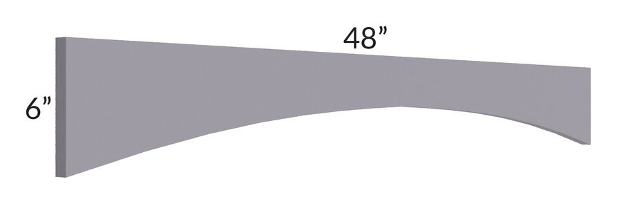 """Graphite Grey Shaker 48"""" Arched Valance"""