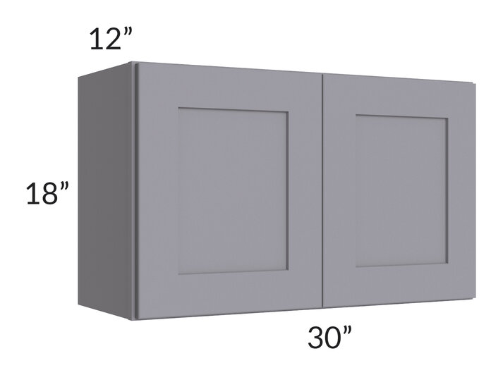 Graphite Grey Shaker 30x18 Wall Cabinet