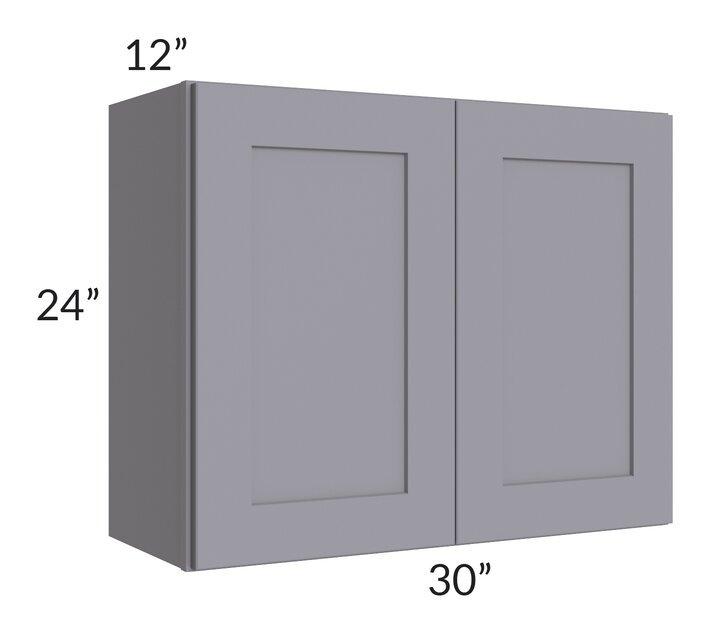 Graphite Grey Shaker 30x24 Wall Cabinet