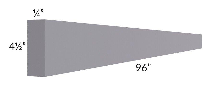 "Graphite Grey Shaker 96"" Toe Kick"