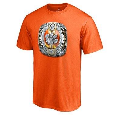 Fanatics Branded Clemson Tigers Orange Hometown Collection Champions Ring T-Shirt