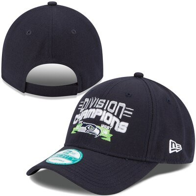 Seattle Seahawks New Era 2014 NFC West Division Champions 9FORTY Adjustable Hat - College Navy