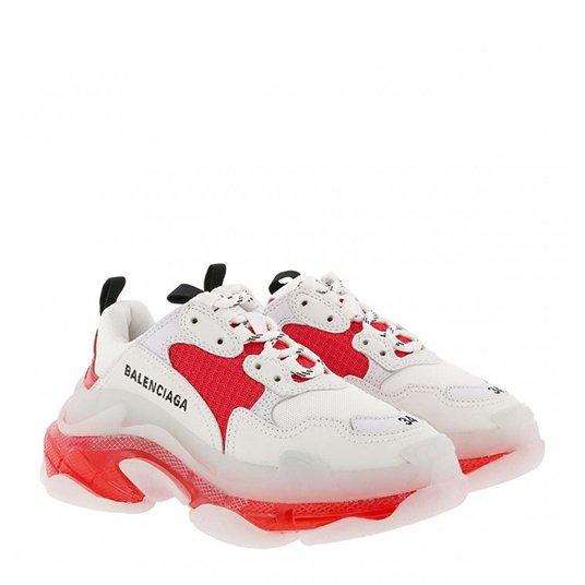 Triple S Sneaker White/Orange