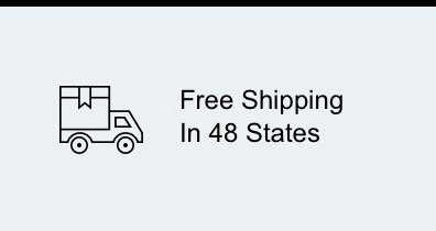 Free Shipping in 48 States